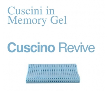 Cuscino in Memory Gel Cervicale Revive Anallergico Antiacaro