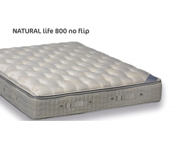 Materasso 800 molle, Caucciù, Pillow Top, 100% Cotone, H.31, Altrenotti Entry Natural Life